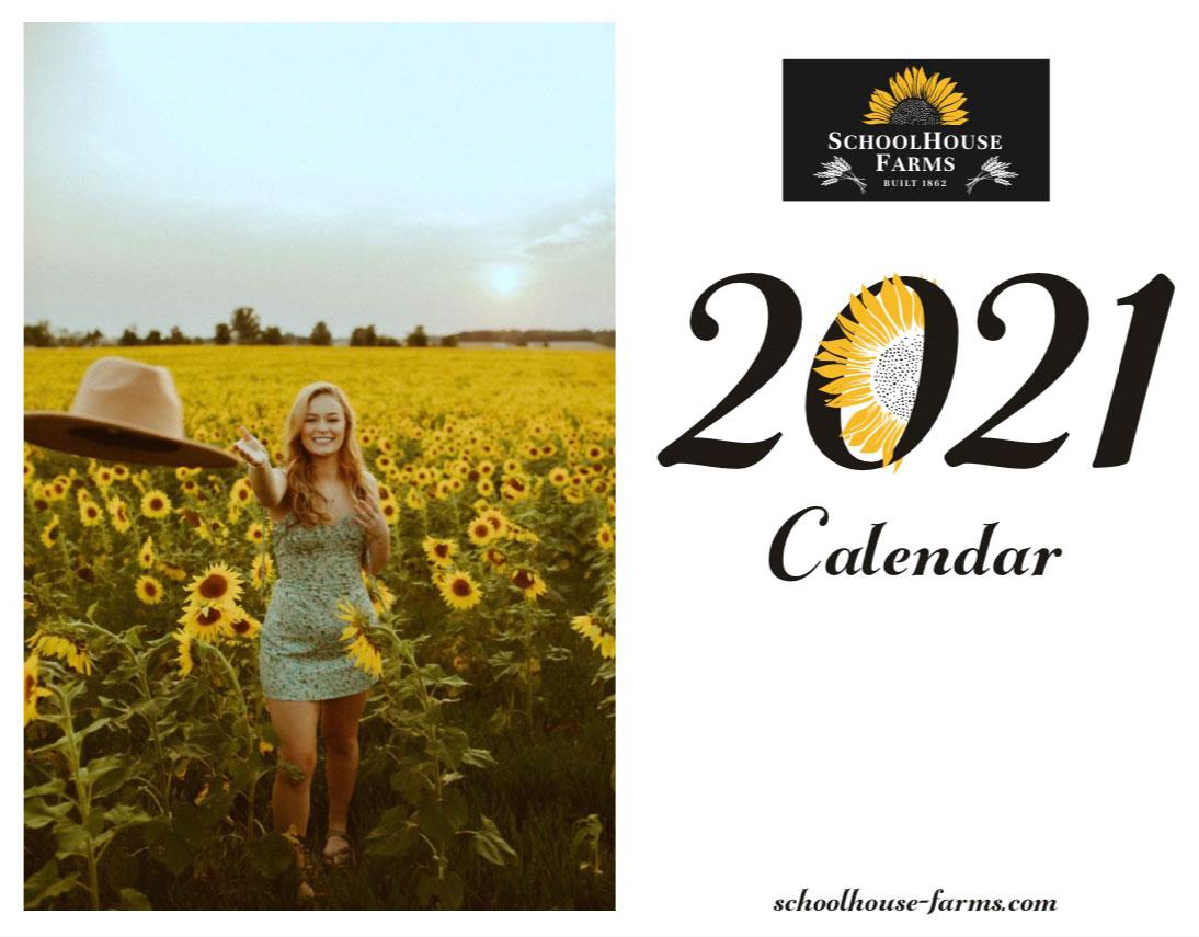 2021 Calendar Schoolhouse Farms