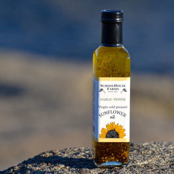 Garlic Pepper Sunflower Oil from Schoolhouse Farms