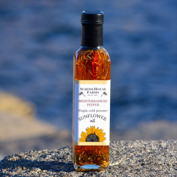 Mediterranean Pepper Sunflower Oil 8oz from Schoolhouse Farms